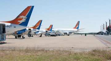 Some of Proflight Zambia's expanding fleet of nine aircraft