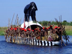 The most famous and spectacular of Zambias many traditional ceremonies is the Kuomboka which is celebrated each year in March or April