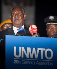 Zambian President Micahel Sata speech during UNWTO Opening Ceremony