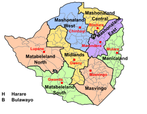 Provinces that are in Zimbabwe