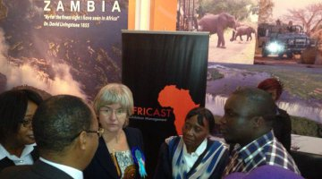 Africast stand at the Insaka Magazine launch