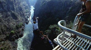 Bungee Jumping off VictoriaFalls Bridge