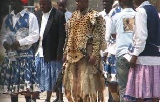 Chief Mamili VII at the Lusata Cultural Festival