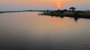 Chobe River at sunset