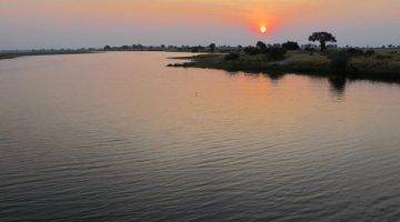 Chobe River at sunset