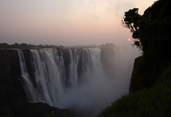 First light over Victoria Falls