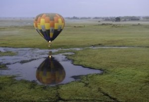 Hot air ballooning over the Kafue