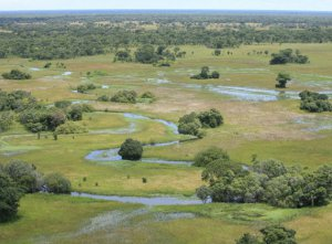 Kafue National Park from the sky