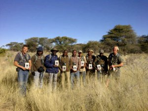 Namibians completing a Level 1 Field Guide training course