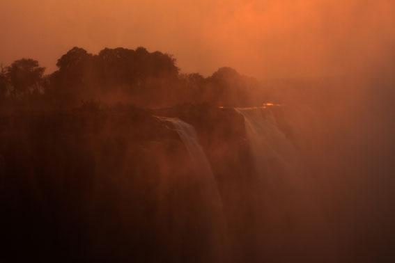 Sunlight over Victoria Falls