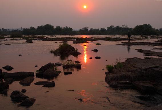 Sunrise over the Zambezi River