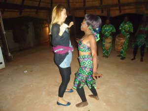 Tourist has a dance-off with a local Zambian