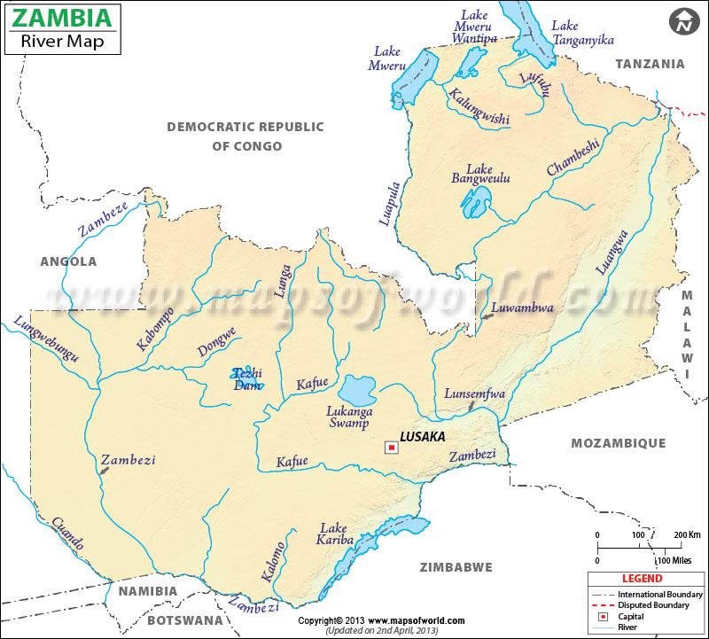 Zambia Rivers and Lakes