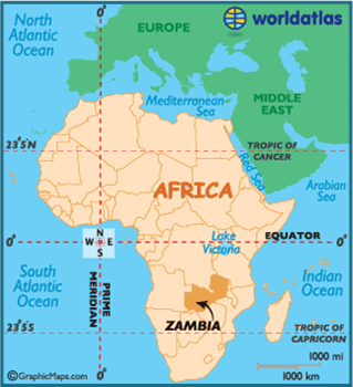 Map Of Africa Zambia.Zambia On The African Map Victoriafalls24