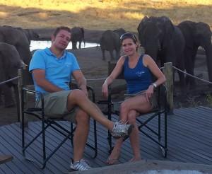 Luke & Suzanne in Hwange National Park, Zimbabwe