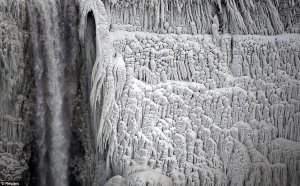 Thankfully, the freezing air and 'polar vortex' that turned the cascading water to ice will depart during the second half of this week, and a far-reaching January thaw will begin, according to AccuWeather.com