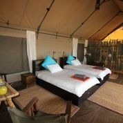 Twin bedded tent