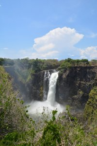 The waterfall known as the Devil's Cataract, which can only be seen from the Zimbabwe side of the falls.