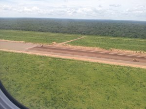Progress on the new runway