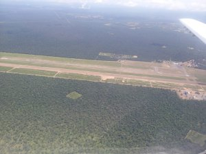 Old and new runway as seen from the air