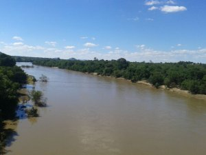 Rivers receding slightly