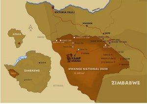 camp hwange map