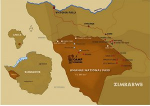 camp hwange map