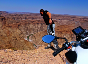 Looking over the edge of the Fish River Canyon.