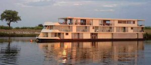 Cruise the Chobe River in decadent style aboard The Zambezi Queen