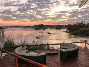 View of the Zambezi River from the deck of the main lodge (photo - Imvelo Safaris)