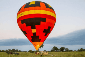 hot air balloon okavango