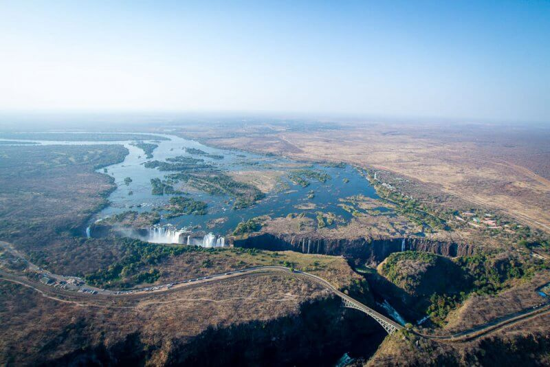 Aerial view of Victoria Falls. Credit Wild Horizons
