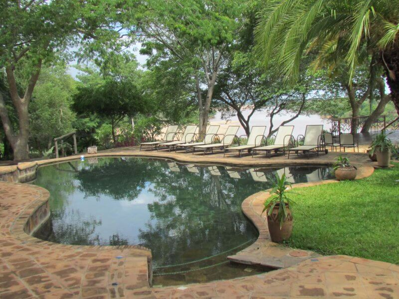 Chilo pool area, overlooking the Save River