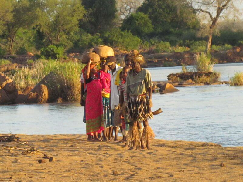 Mahenye Villagers about to entertain us with traditional Shangaan dance