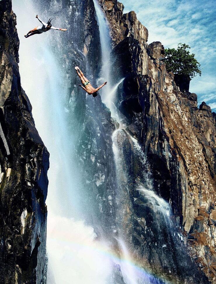 A tandem dive to celebrate