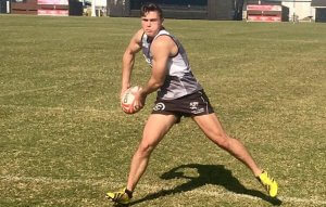 Connor Pritchard training at the Sharks Academy