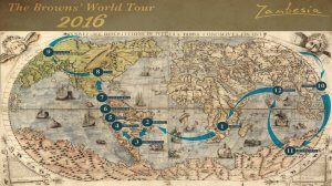 Robin and Jo Brown's Zambesia World Tour route